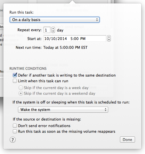 New runtime conditions offer more control over when and how scheduled tasks run