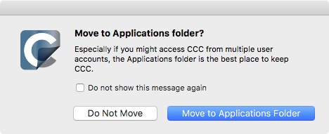 Open CCC and allow it to move itself to the Applications folder