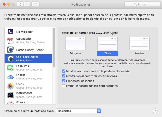Notificaciones con el Centro de Notificaciones
