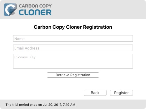 Copy and Paste in Registration Codes