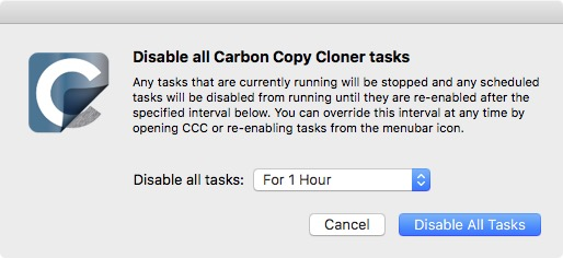 Disabling all tasks