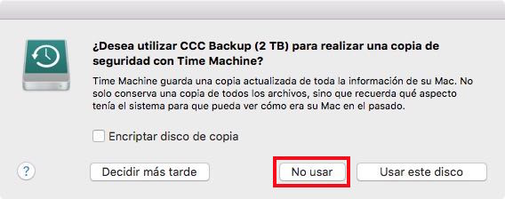 No use Time Machine
