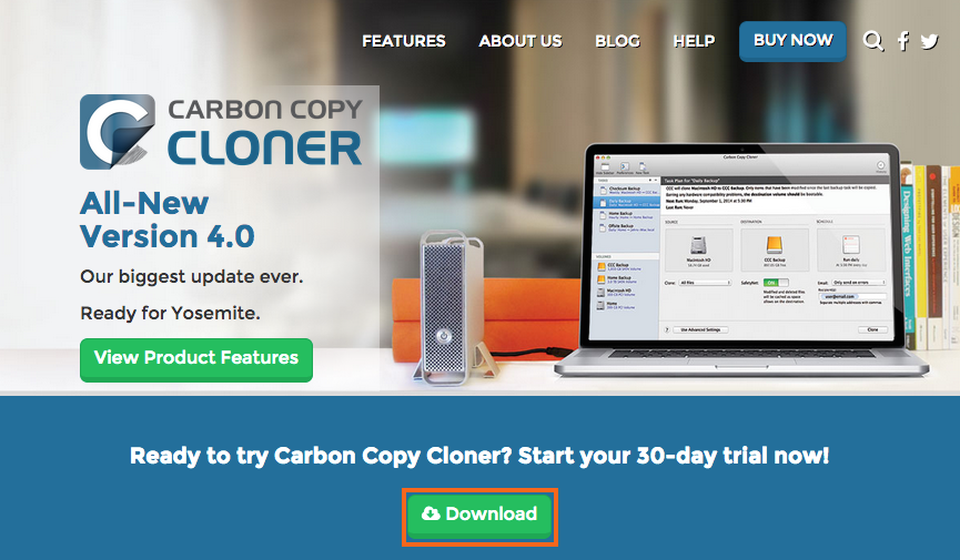 carbon copy clonerのダウンロードとインストールの方法を教えてください