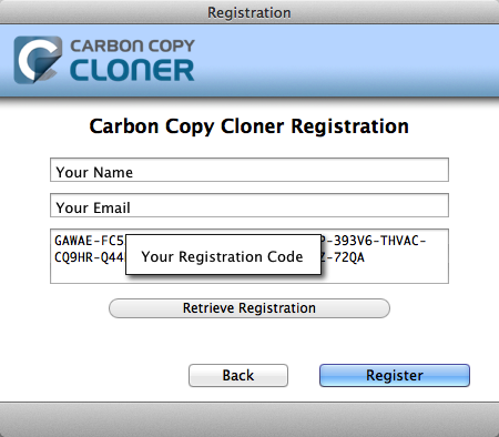 How to Manually Enter a CCC Registration Code